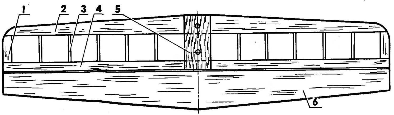 Р и с. 3. Стабилизатор с рулем