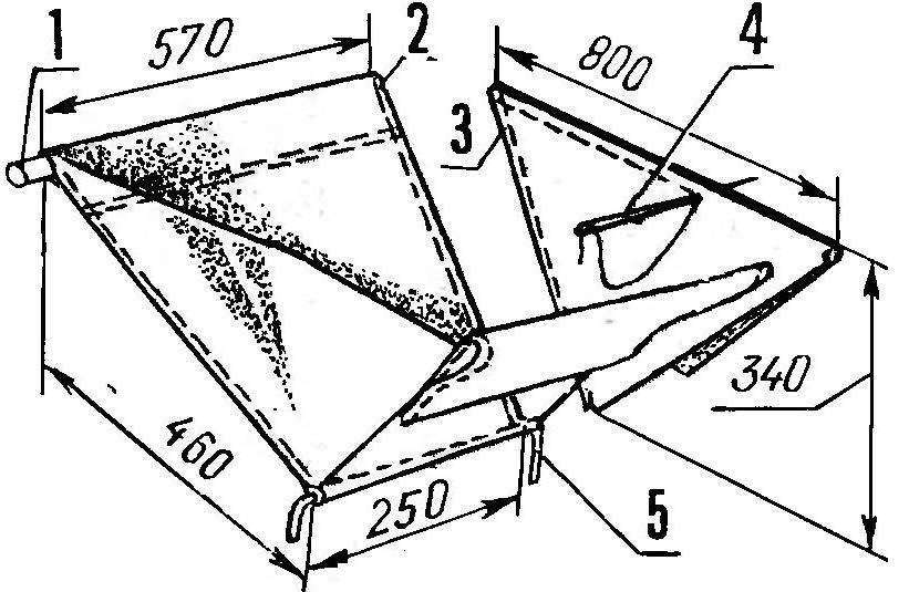 Обшивка каркаса прочной материей (вариант):