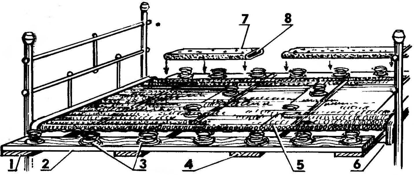 Р и с. 3. Вариант реставрации панциря с уширением кровати