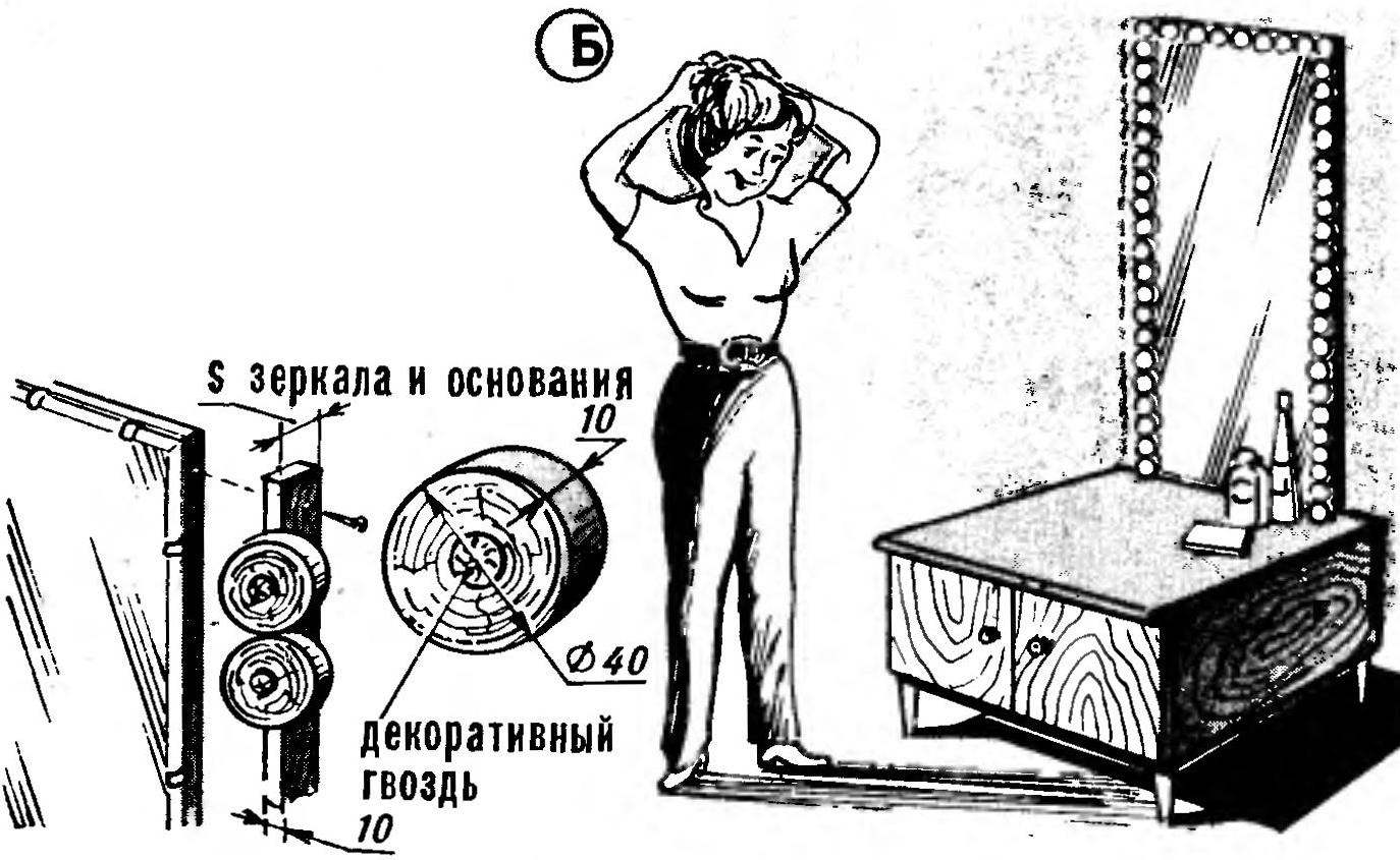 Рис. 2. Плоская заготовка для обрамления прямоугольных зеркал