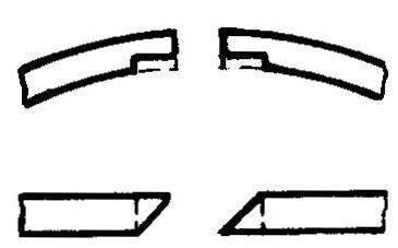 Рис. 8. Доработка выборок в компрессионных кольцах под контровочные штнфты