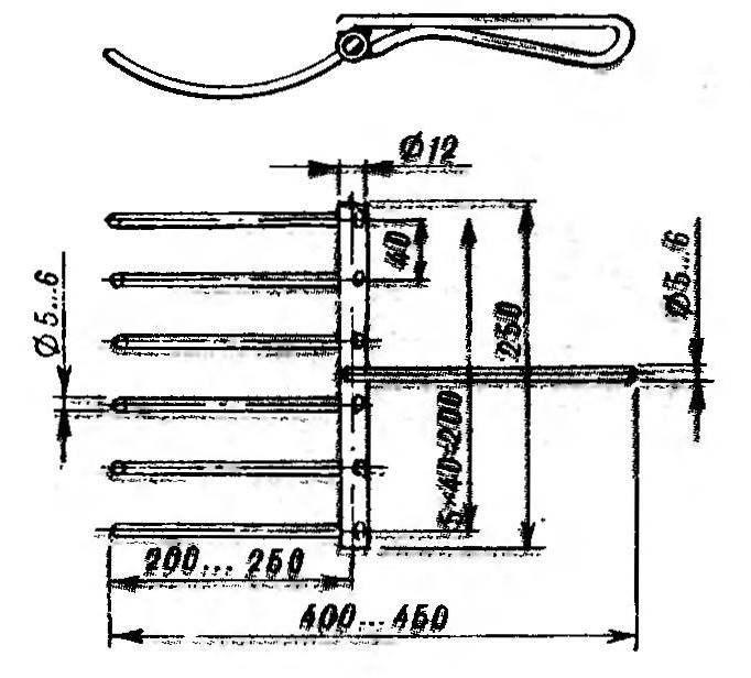 Вилка-совок для сортировки корнеплодов