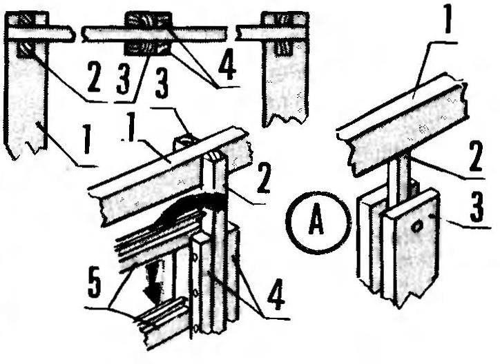 Рис.4. Схема расположения стеновой распорки каркаса и укладки стеновых досок