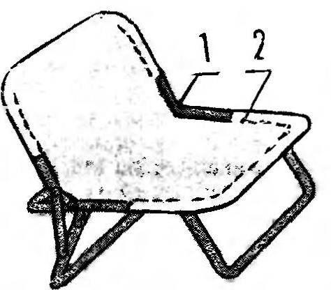 Рис.5. Так будет выглядеть кресло со съемным тканевым сиденьем