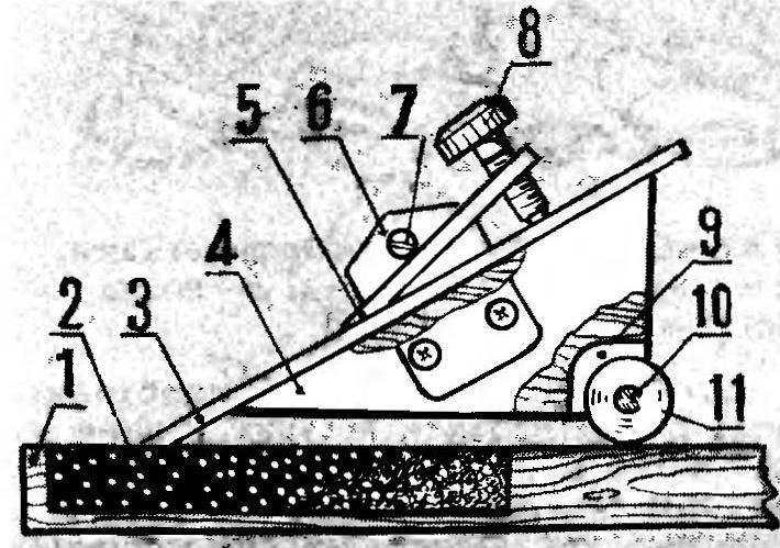 Приспособление для заточки режущего инструмент