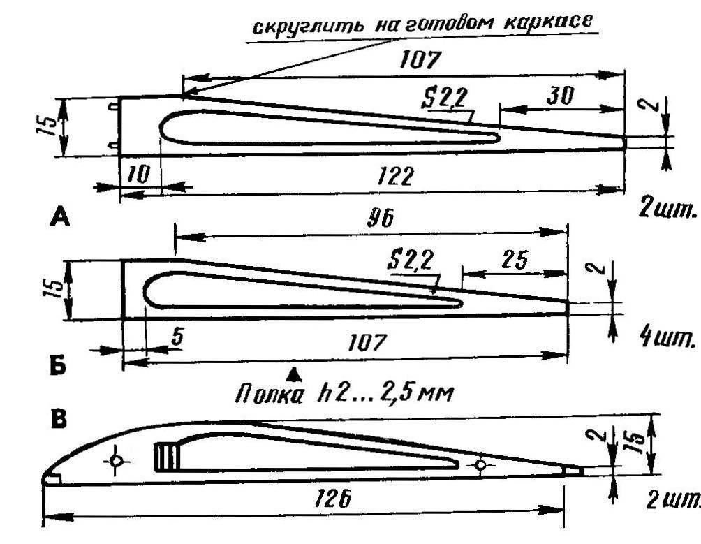 Рис. 5. Нервюрные элементы крыла