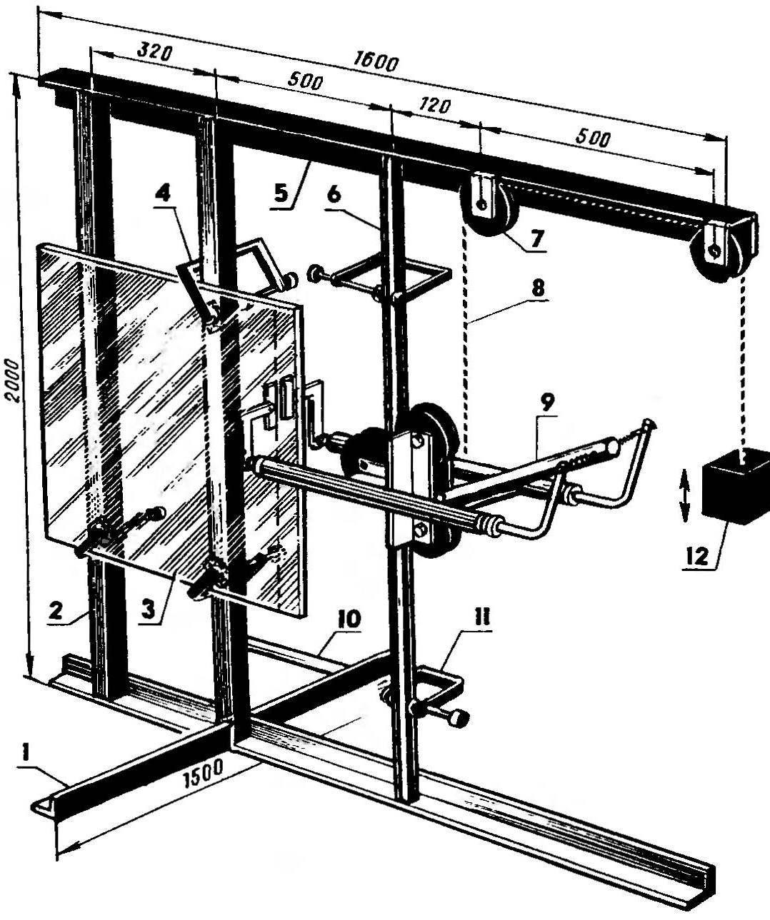 Приспособление для резки триплексного стекла