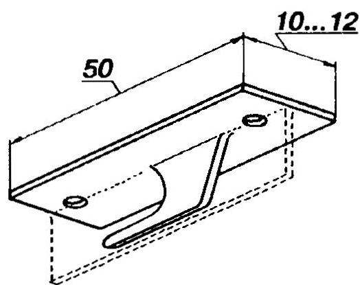 Буксировочный крюк из дюралюминиевого «тавра»