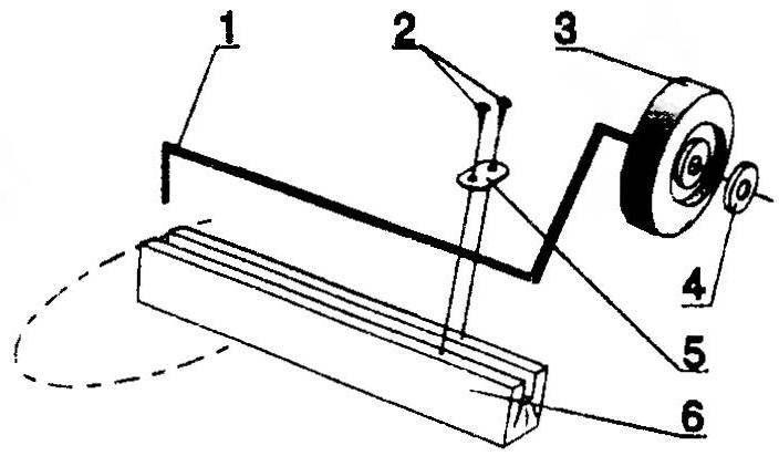 Крыльевая стойка и узлы шасси для модели соревновательною типа