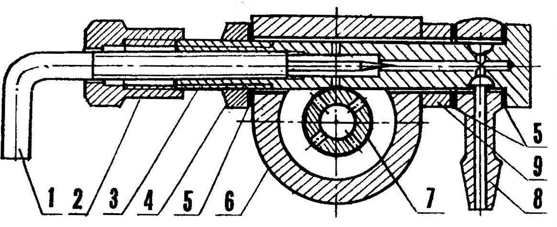 Штатный жиклер двигателя КМД