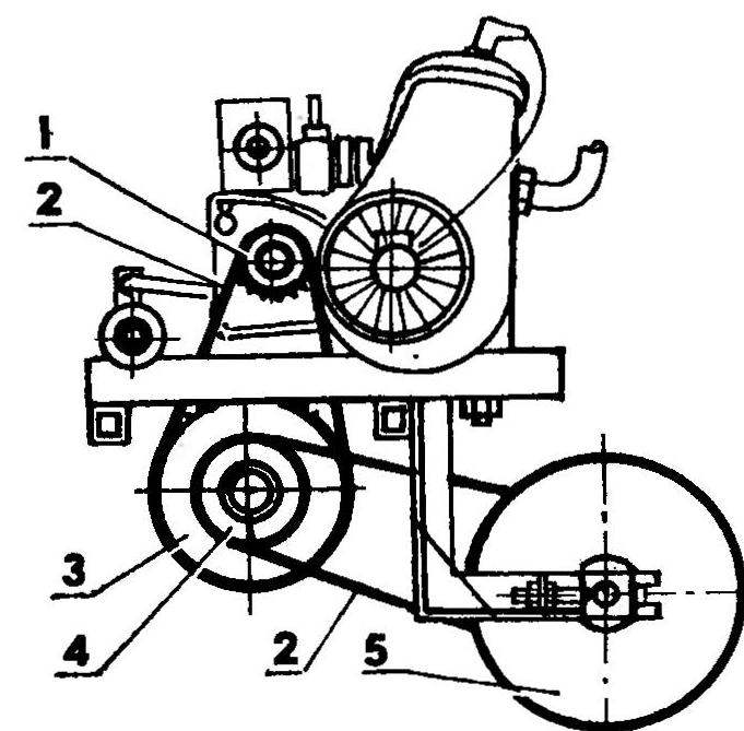 Схема привода тросовой лебедки
