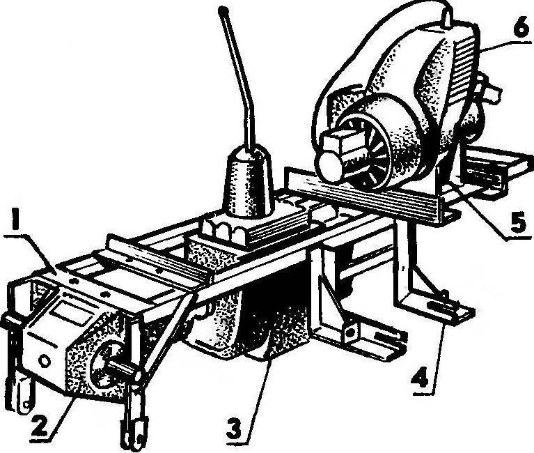 Размещение основных агрегатов на раме