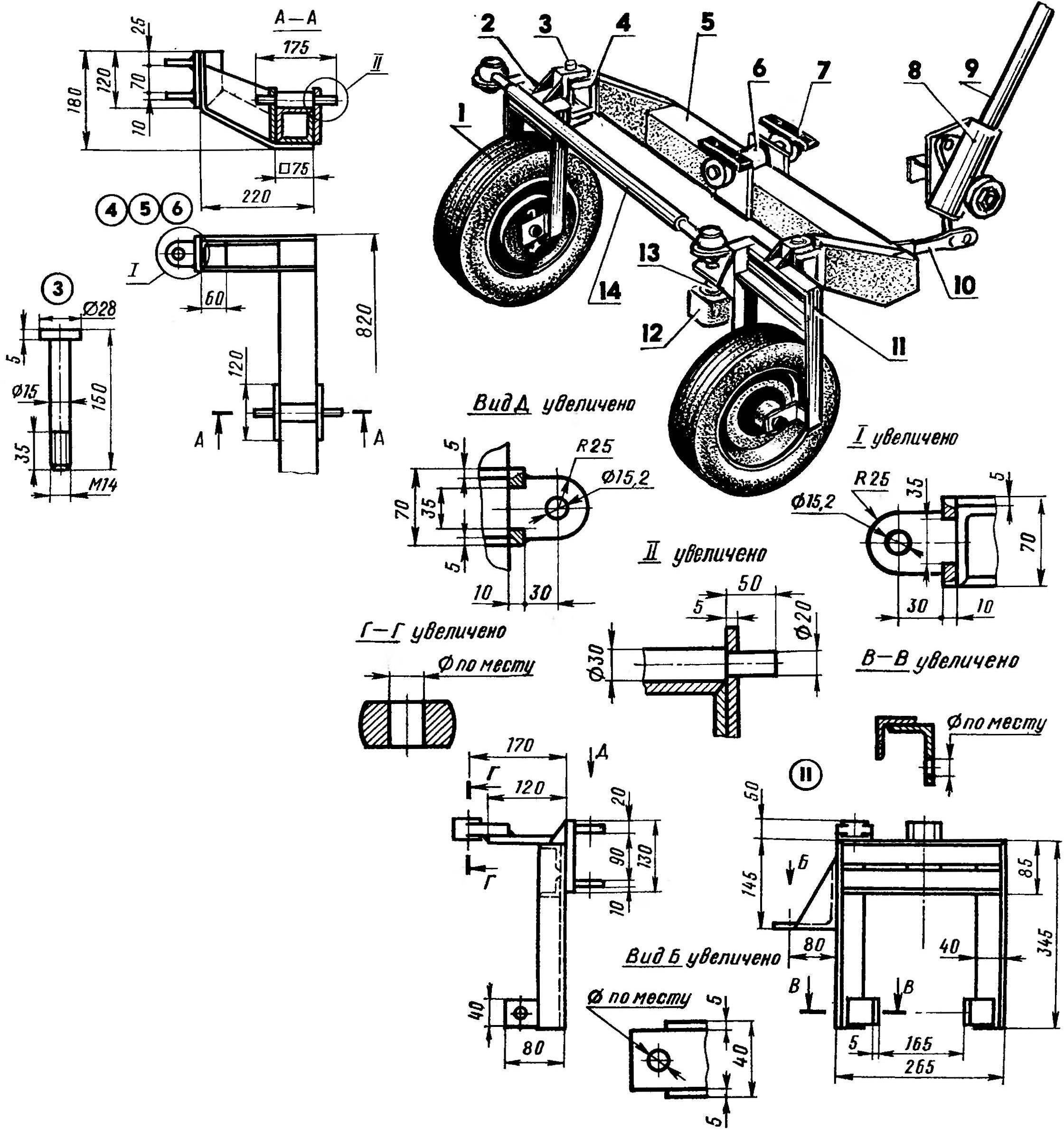 Переделка мотоблока в минитрактор своими руками чертежи