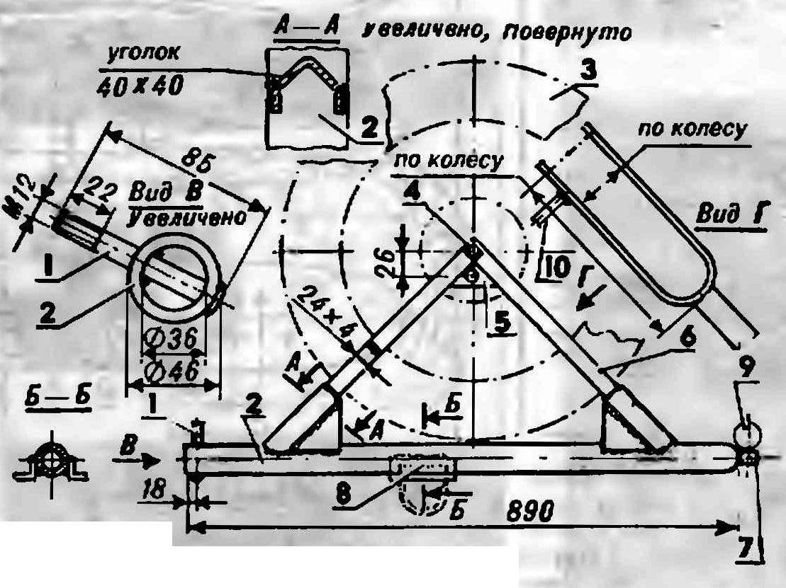 Буксирное устройство с кронштейном крепления запасного колеся