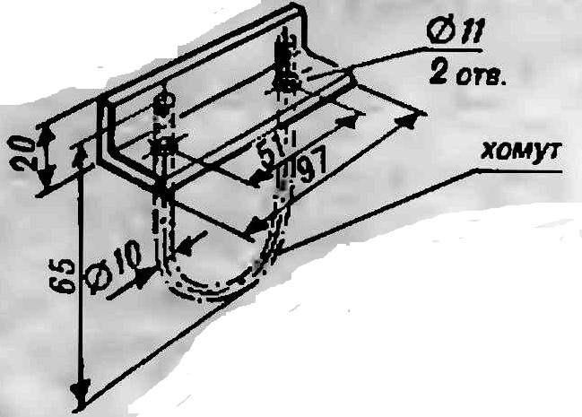 Левый элемент стыковочного узла несущей трубы