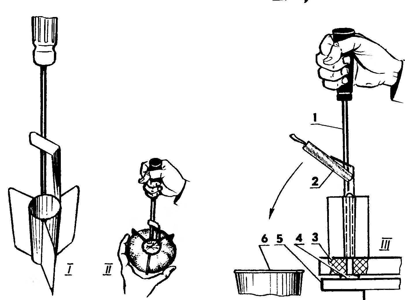 Рекомендуемая последовательность действий и оборудование, используемое при резке фруктов