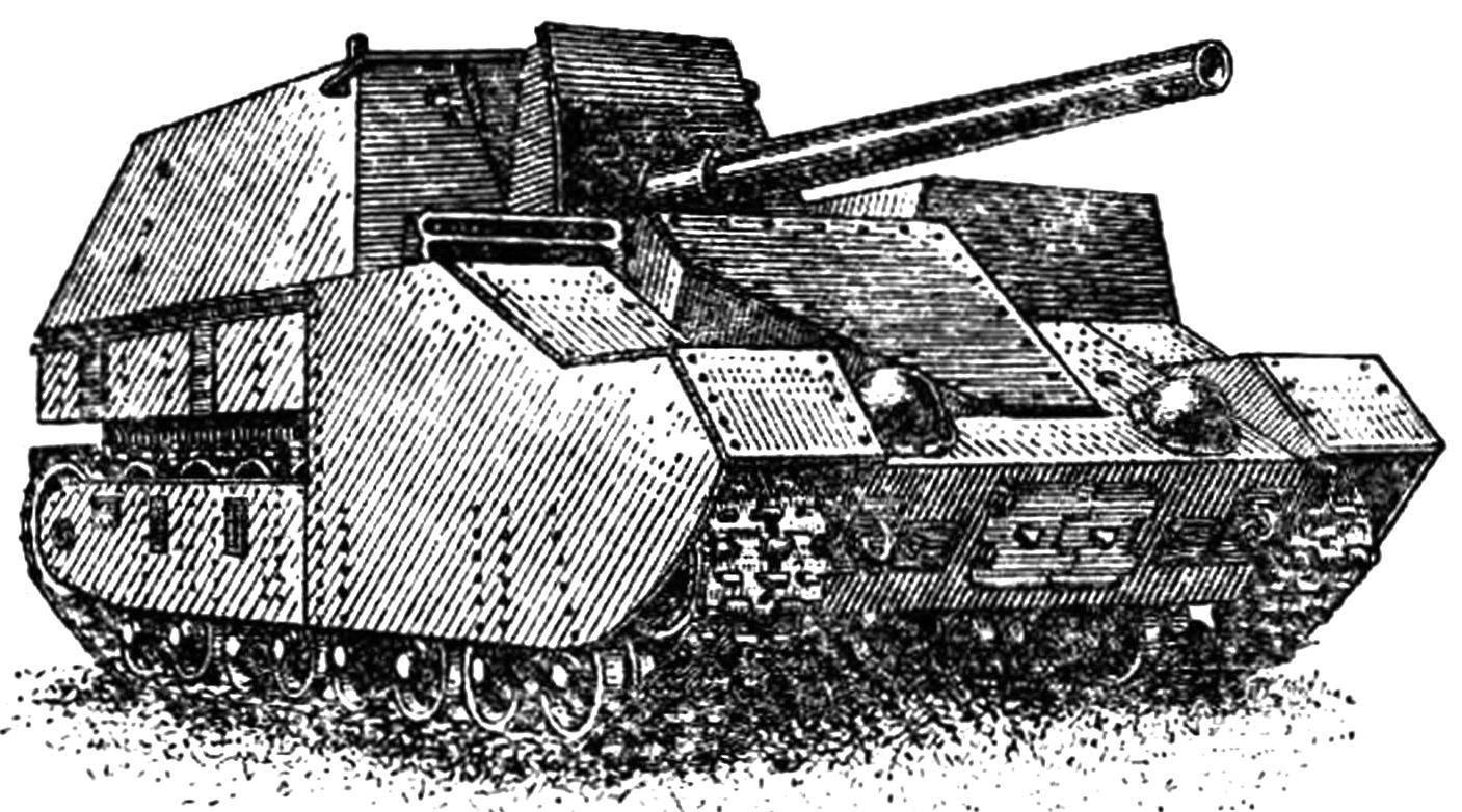 Опытная самоходно-артиллерийская установка СУ-14Бр-2.