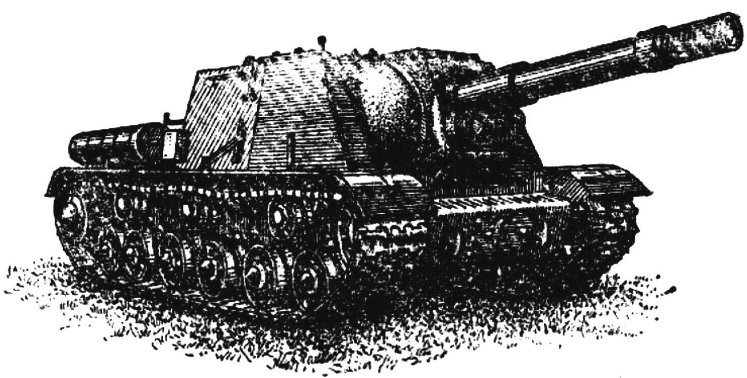 Тяжелая самоходно-артиллерийская установка ИСУ-152.