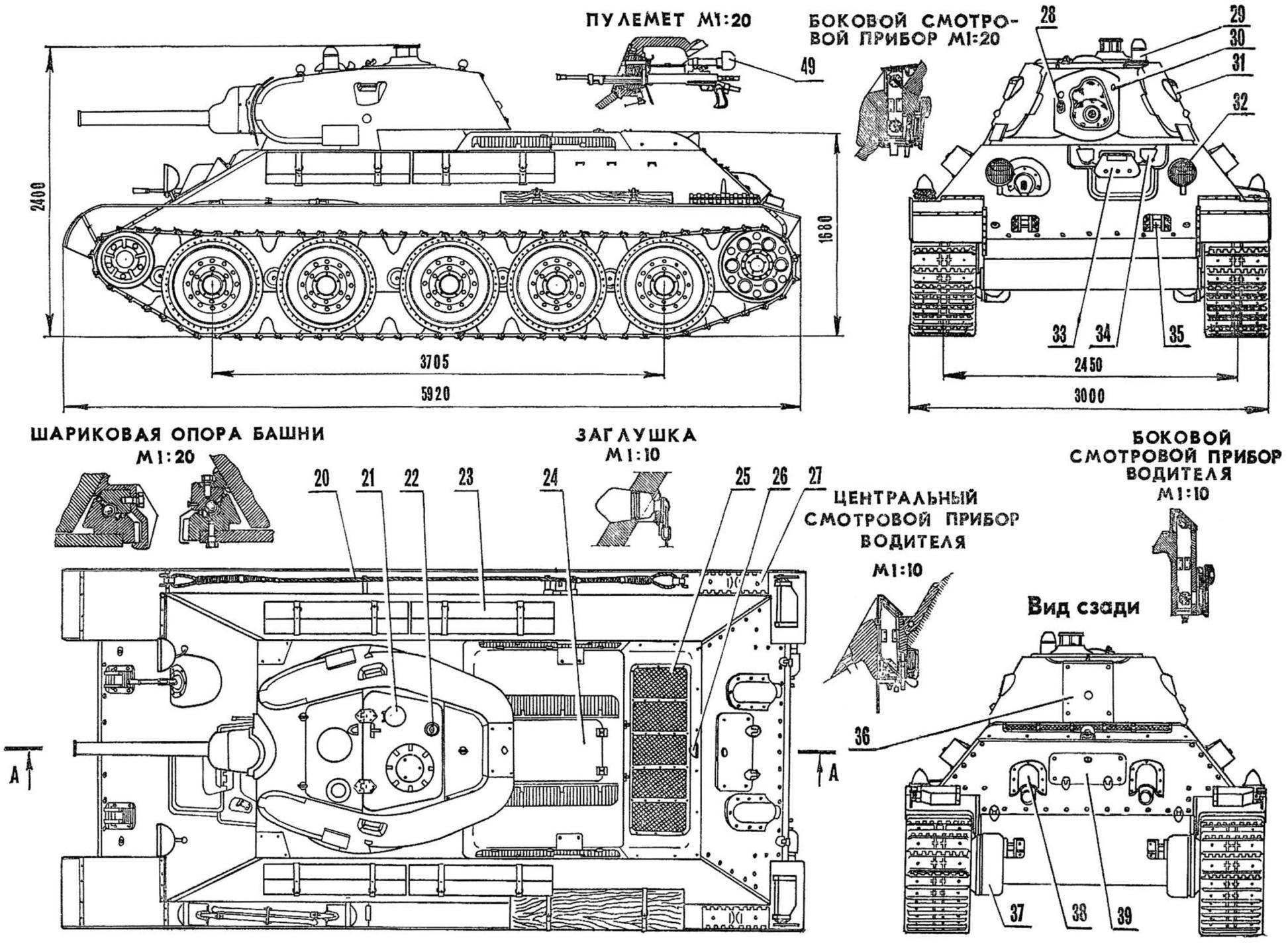 Средний танк Т-34 выпуска 1940 г.