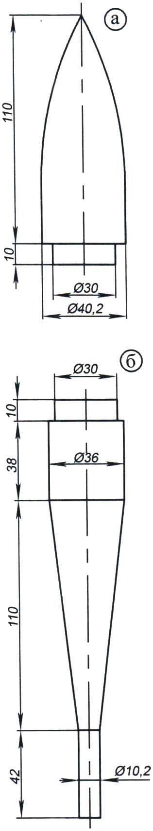 Оправки для изготовления модели класса S6А