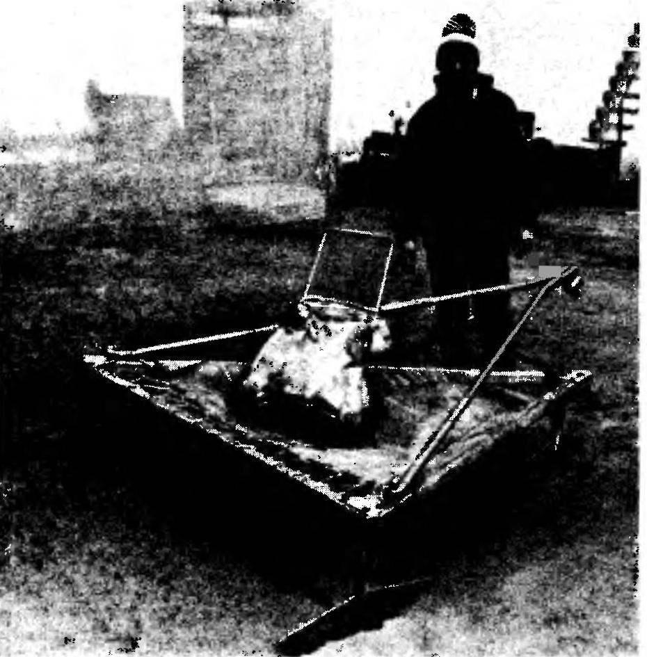 Платформа буера (мачта снята)
