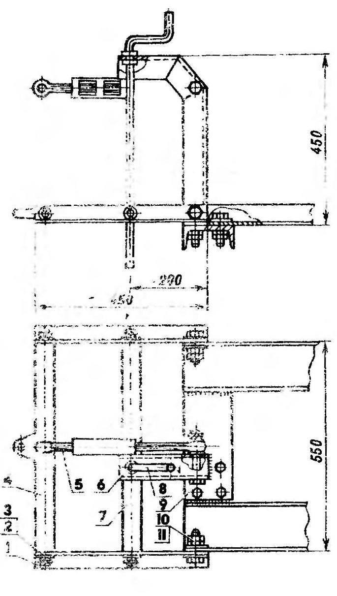 Механизм навески агрегатов (вариант)