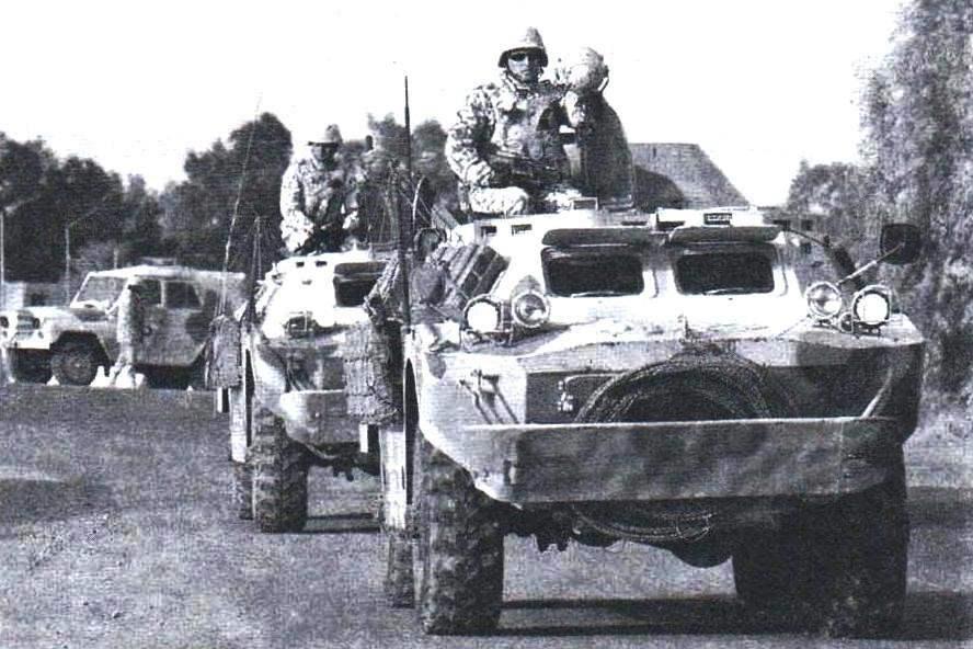 BRDM-2 of the Ukrainian peacekeeping contingent. Iraq, Wasit province, 2005.
