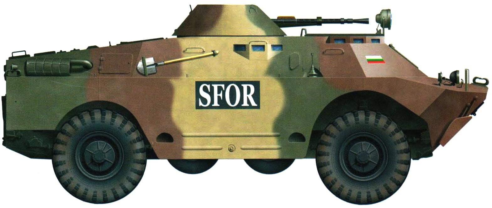 Болгарская БРДМ-2 международных сил стабилизации обстановки в Боснии и Герцеговине, 1998 г.