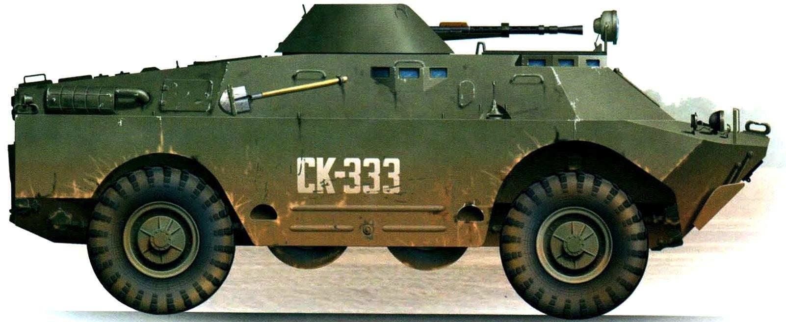 BRDM-2 of the internal troops of the Russian Federation. Stavropol Krai, 1995.