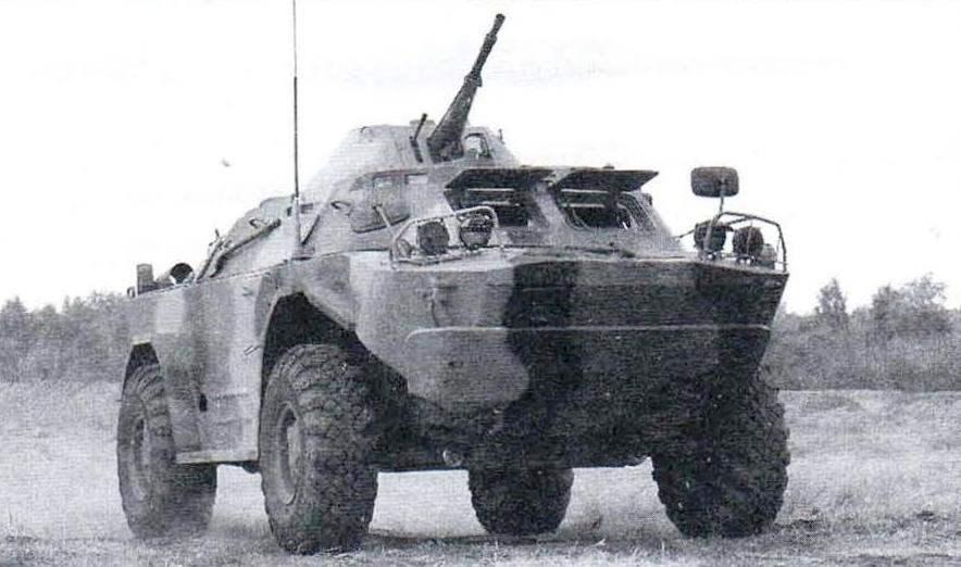БРДМ-2М с башней МА4, оснащённой 23-мм пушкой, 7,62-мм пулемётом и 30-мм автоматическим гранатомётом. Один из вариантов модернизации БРДМ-2, предлагаемый компанией «Муромтепловоз», 2005 г.