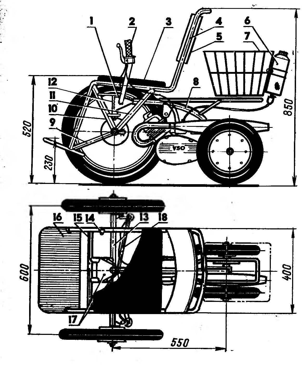 Fig. 1. Wheelchair motociclo