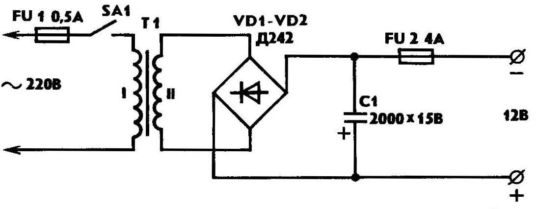 Fig. 2. Fundamental . the scheme of power supply
