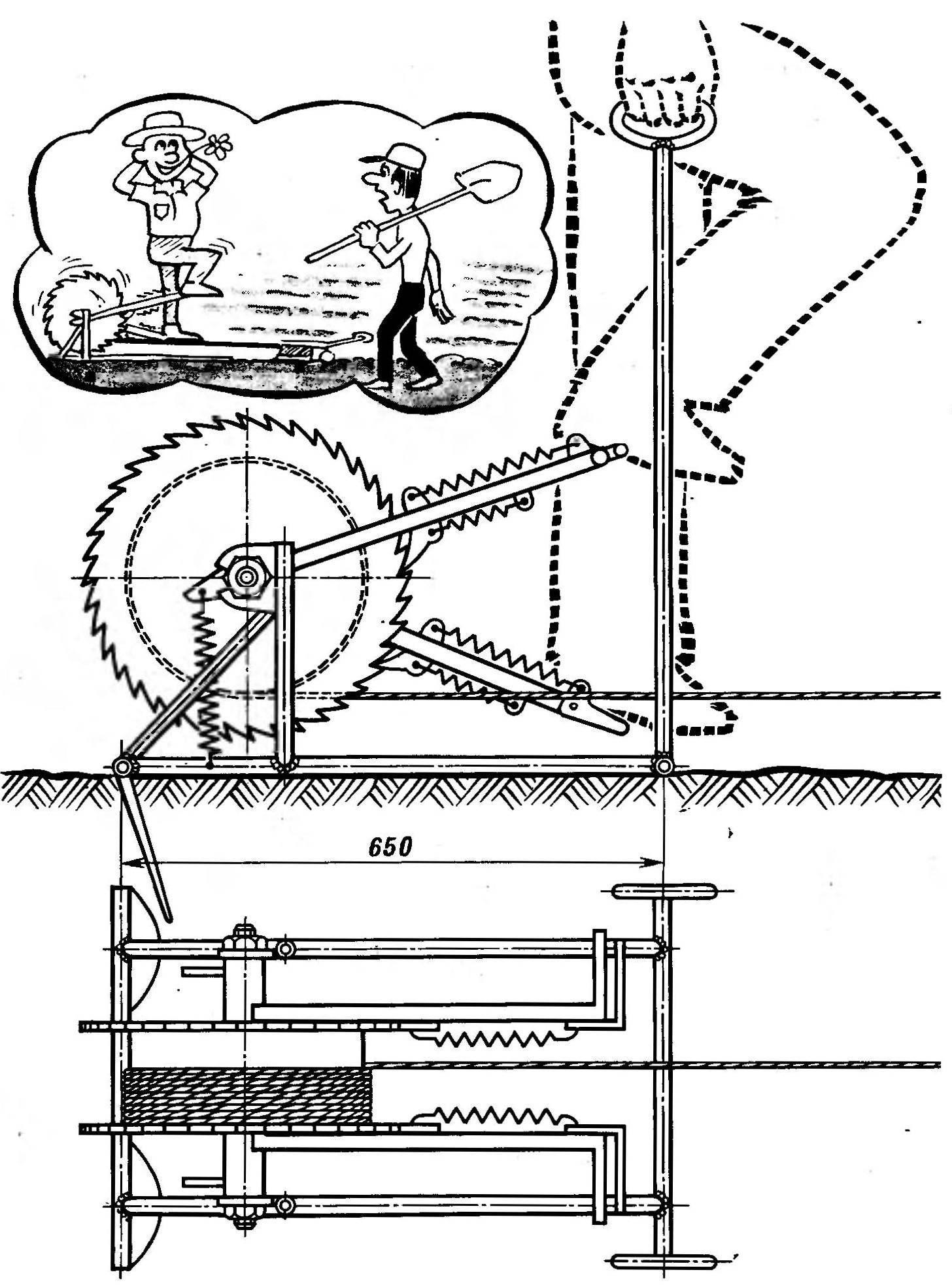 Велолебедка конструкции Г. И. Одегова