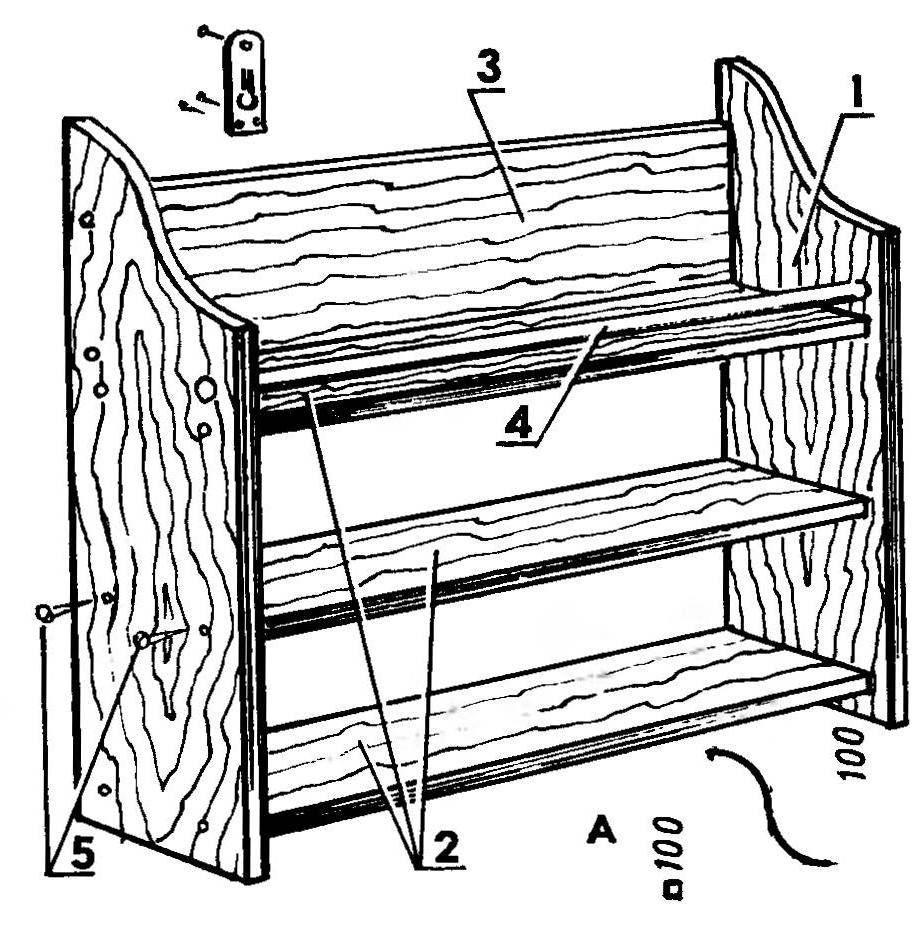 Этажерка для обуви из дерева чертежи