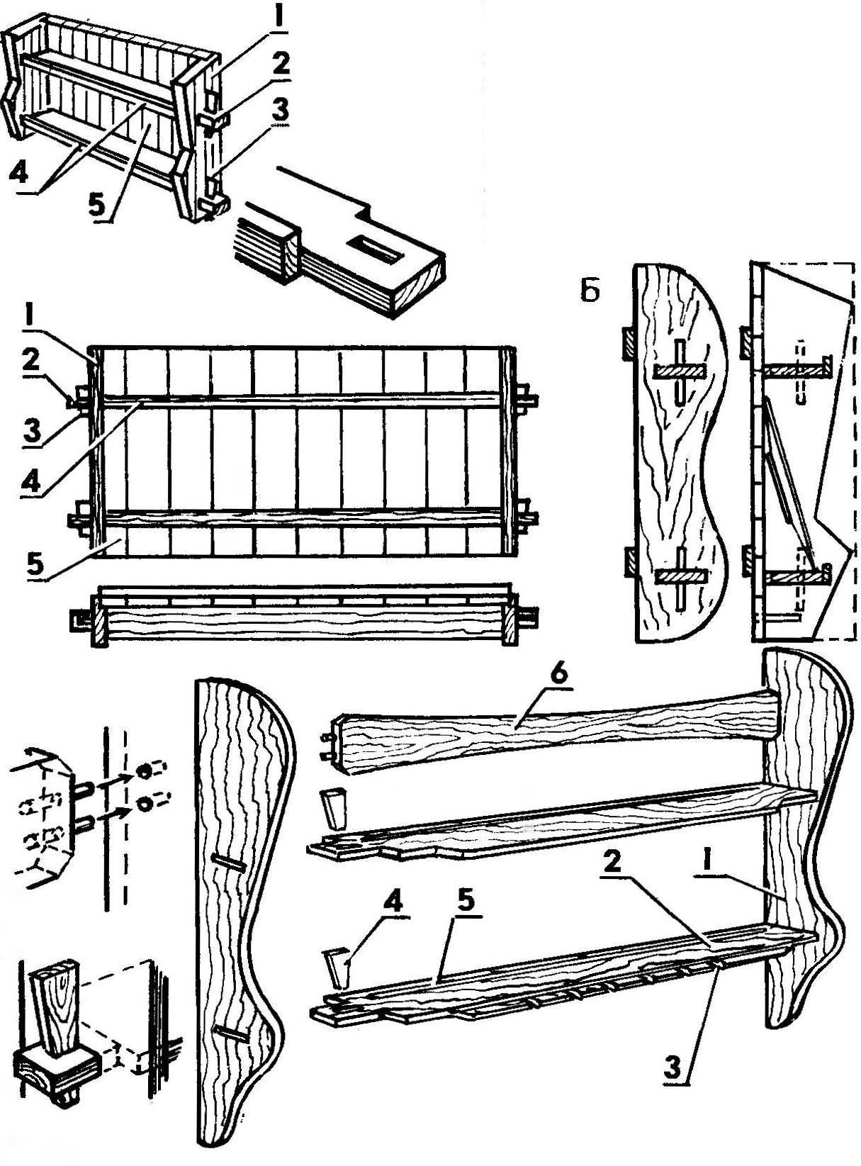 Вариант конструкции кухонной полки