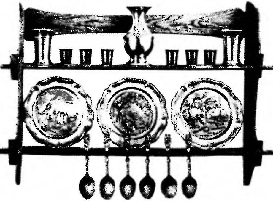 Декоративная кухонная полка