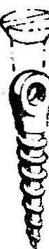 Рис. 8. Получение ушка для подвески плеч уздечки из обычного крупного шурупа