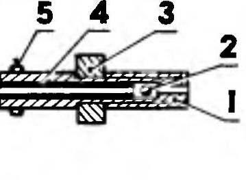 Р и с. 9. Простейший клапан для отбора давления из картера двигателя