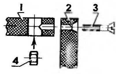 Способ соединения деталей корпуса из ДСП