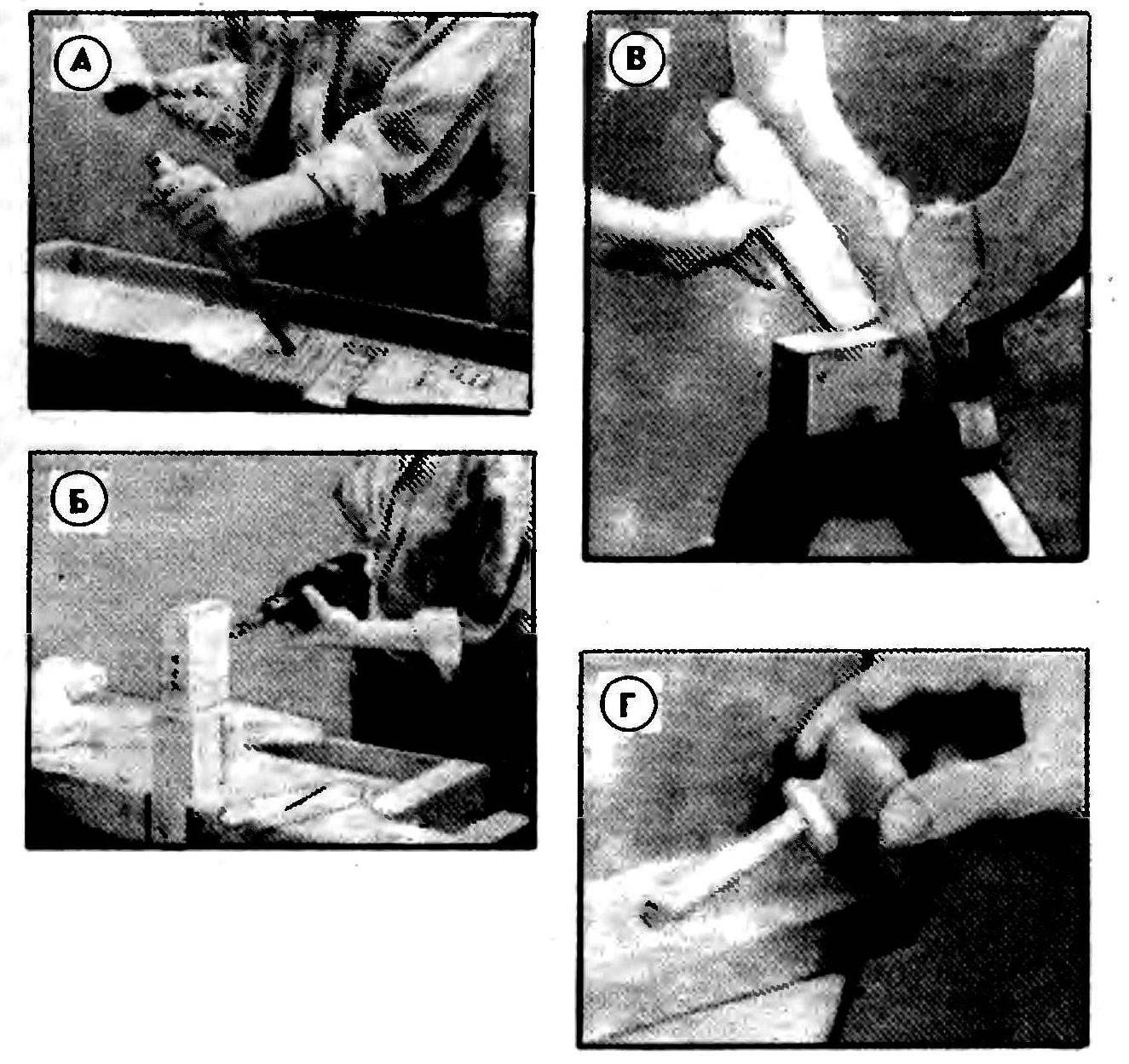 Р и с. 2, Некоторые этапы изготовления стола