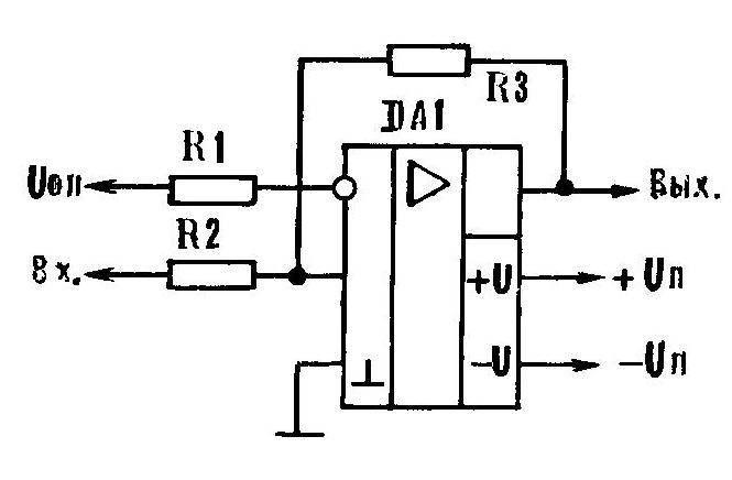 Р и с. 1. Схема компаратора на операционном усилителе