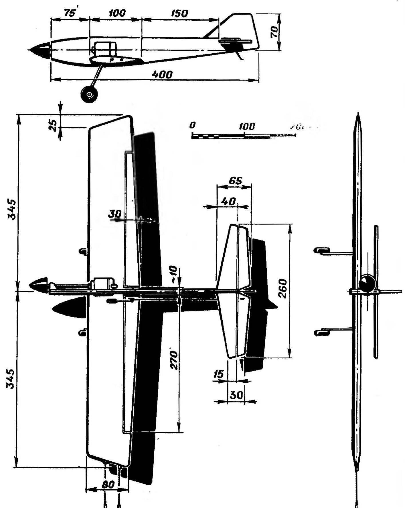 Рис. 1. Основные геометрические параметры модели