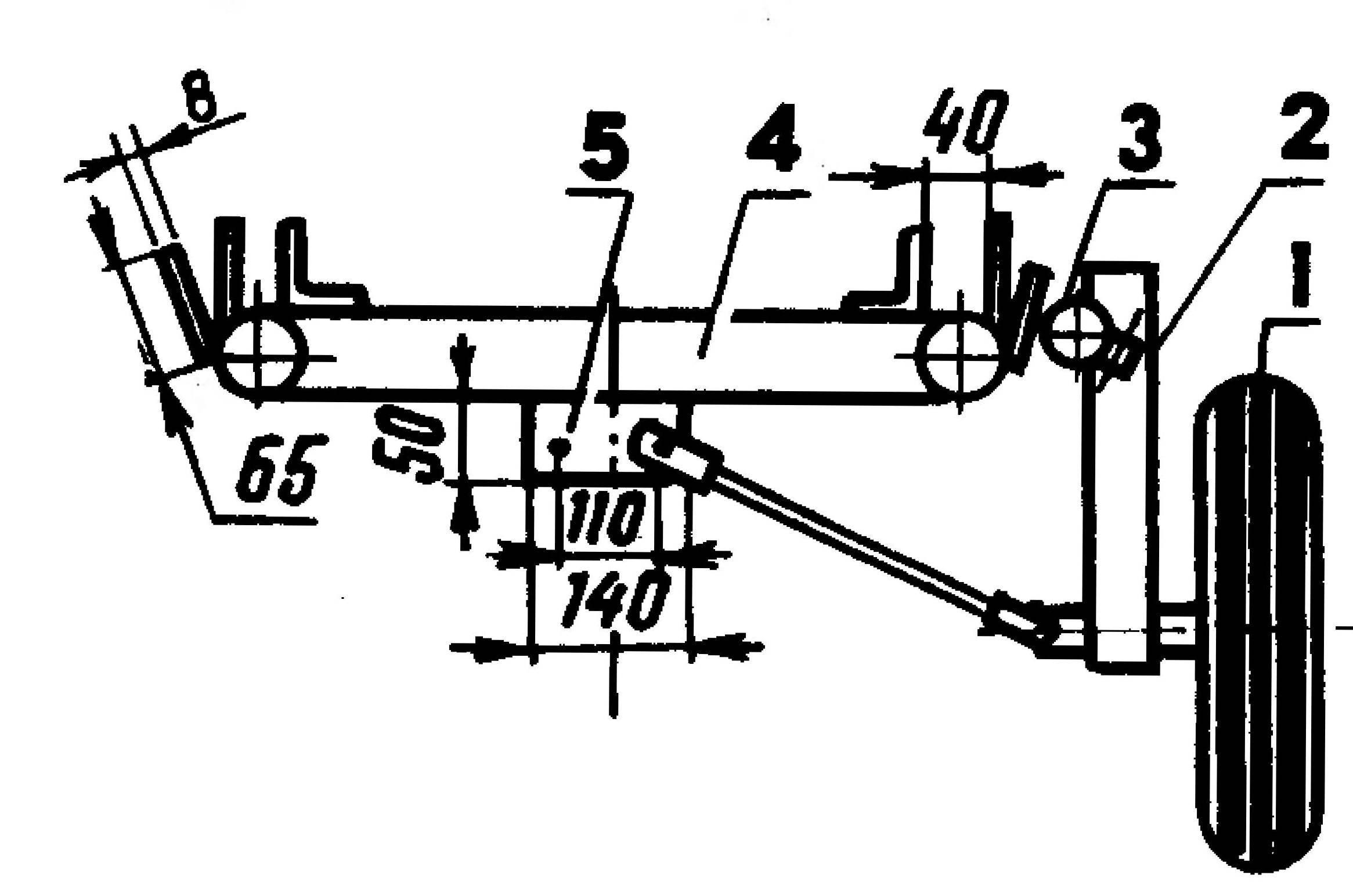 2. Колесо тележки-прицепа в сборе с подвеской