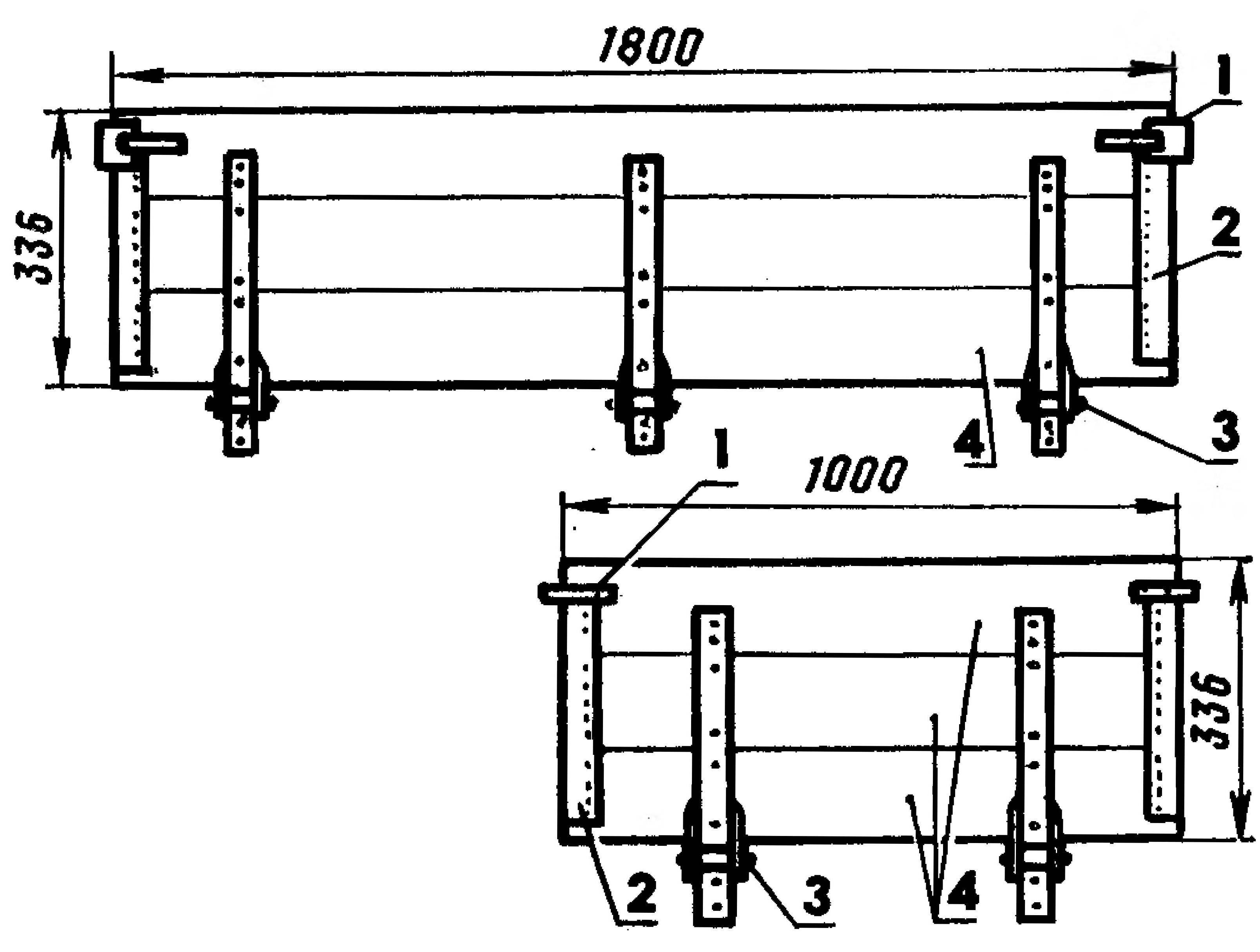 4. Задний и боковой борта тележки-прицепа