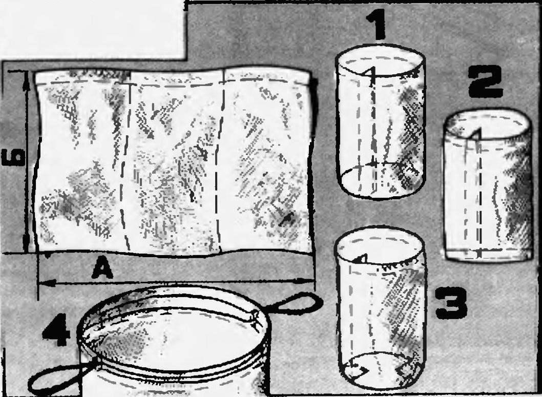 Выкройка и последовательность сшивания защитного чехла для фотоаппаратуры