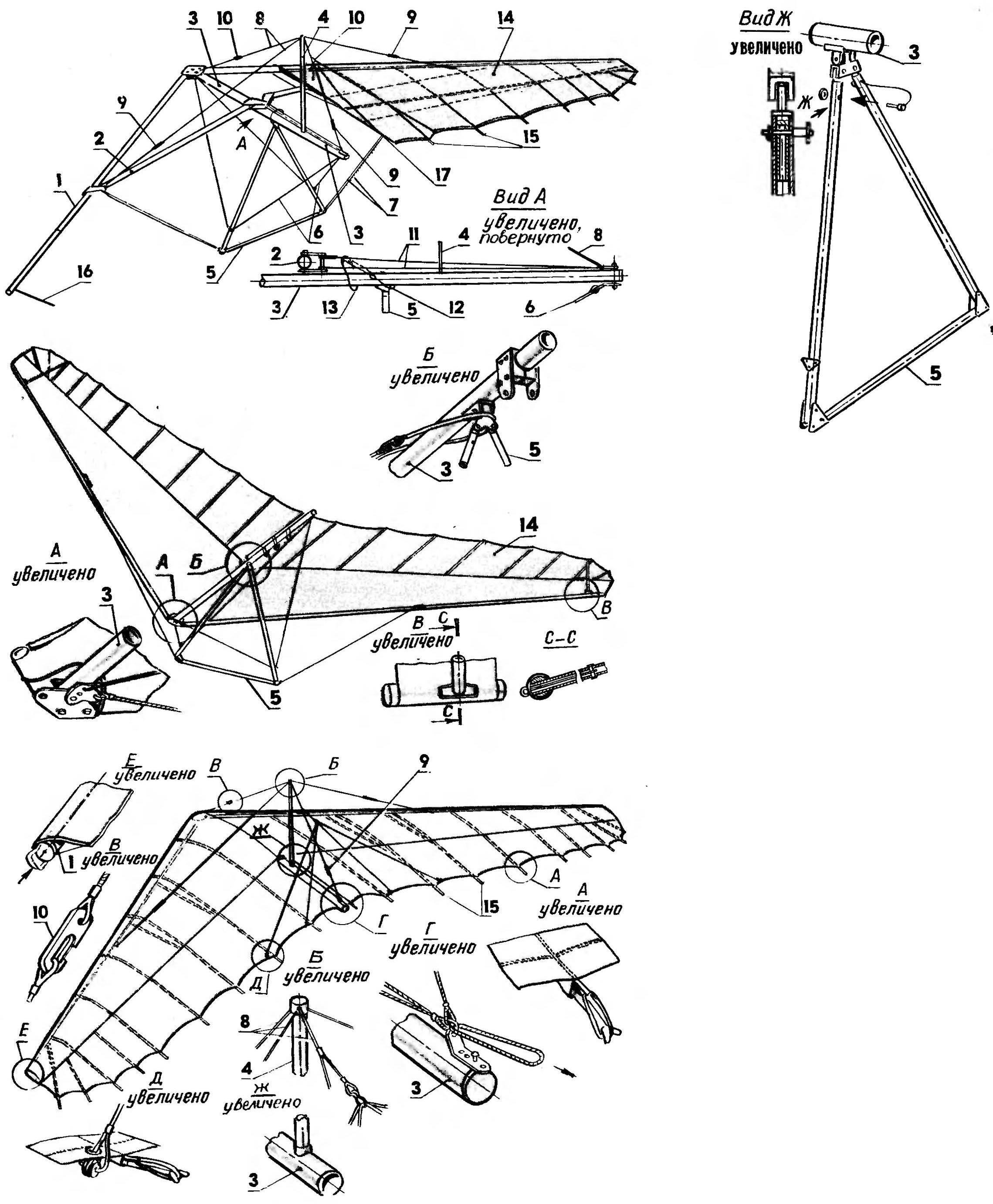 Рис. 3. Крыло дельталета «Поиск-06»