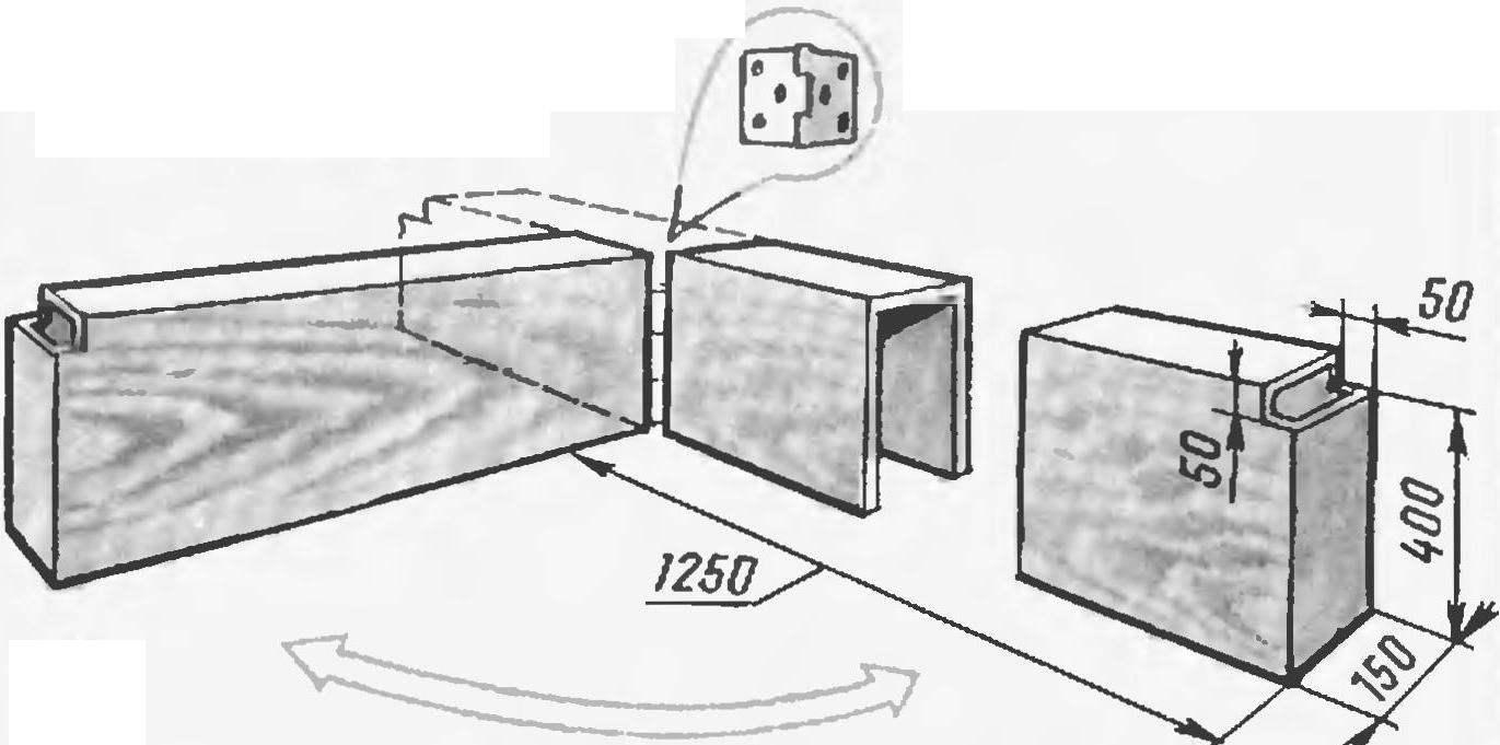Тумба-подлокотник (материал ДСП толщиной 16...20 мм)