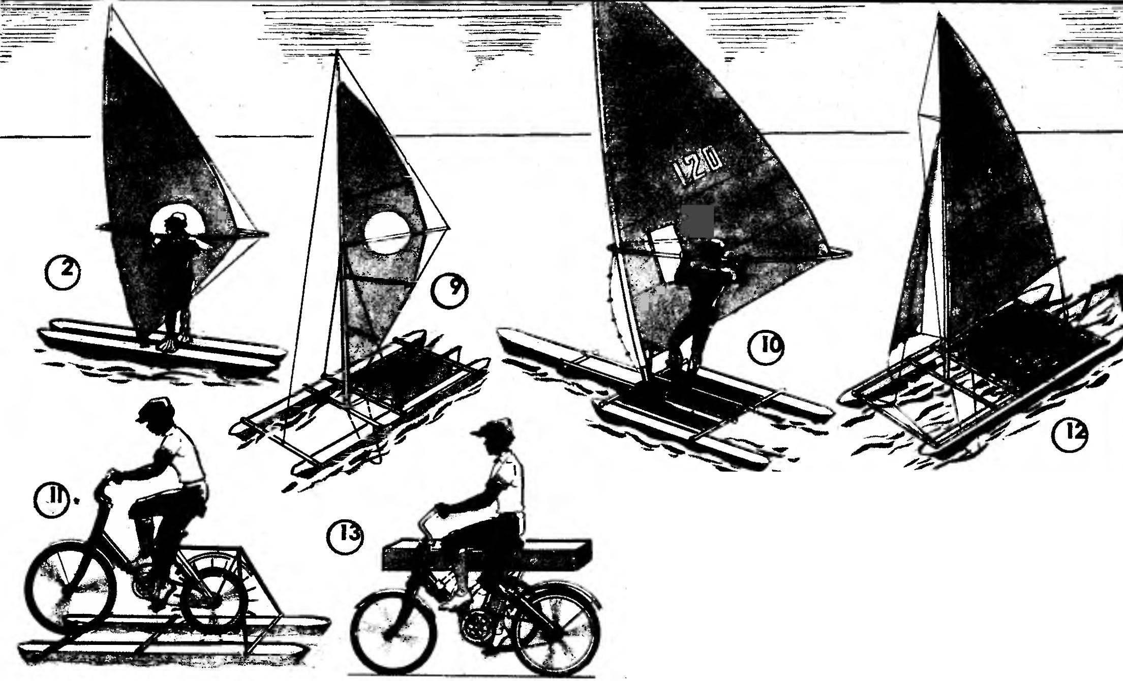 Р и с. 1. Иркмеры использования универсального модуля-поплавка: