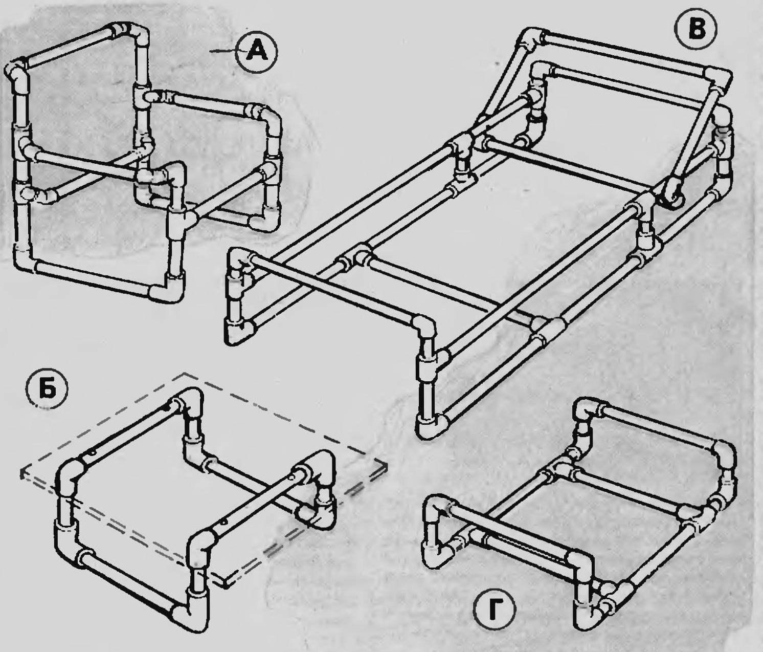 Мебель своими руками из пвх труб своими руками