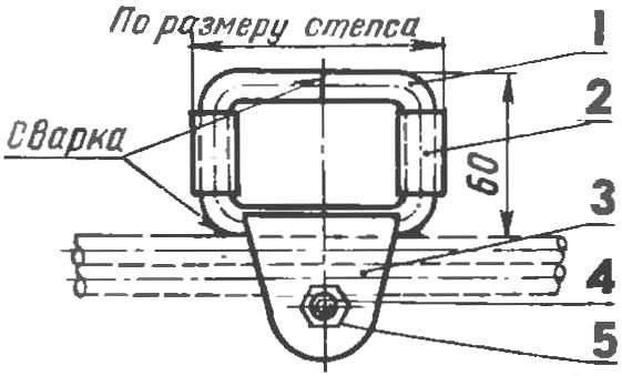 Рис 7. Ограничитель продольного перемещения (для варианта А на рисунке 2)
